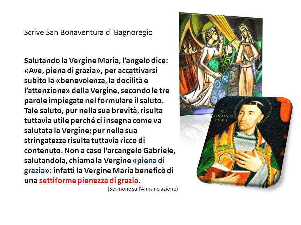 Scrive San Bonaventura di Bagnoregio