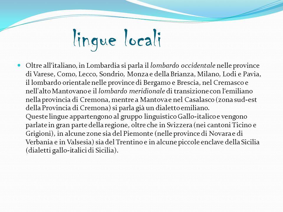 lingue locali