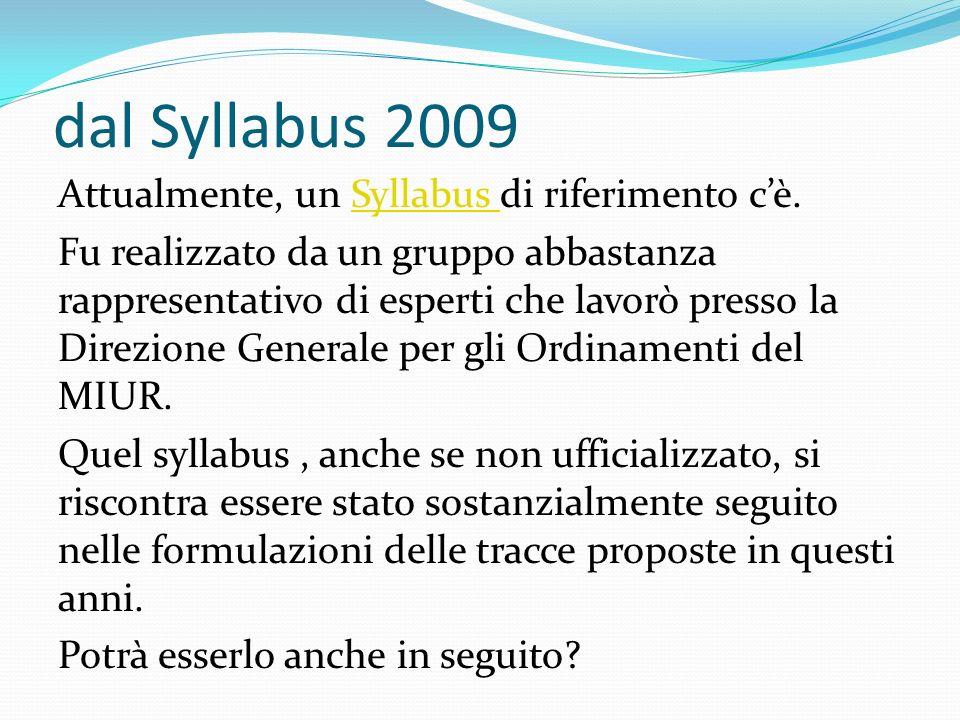 dal Syllabus 2009