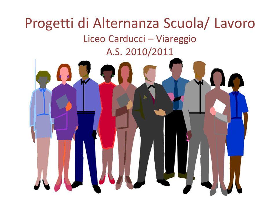 Progetti di Alternanza Scuola/ Lavoro Liceo Carducci – Viareggio A. S