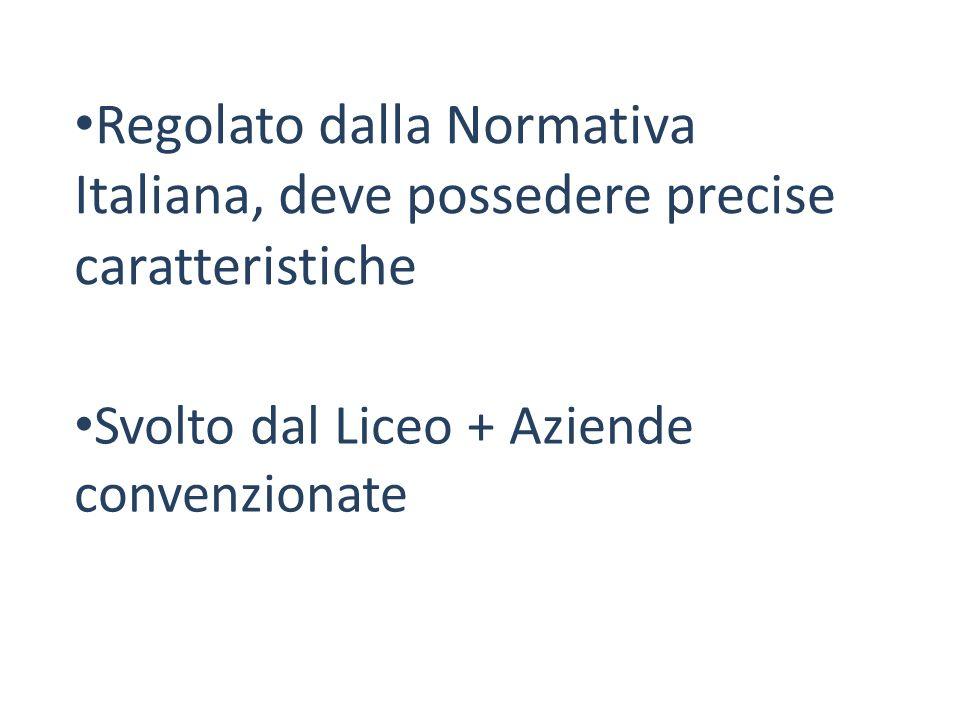 Regolato dalla Normativa Italiana, deve possedere precise caratteristiche