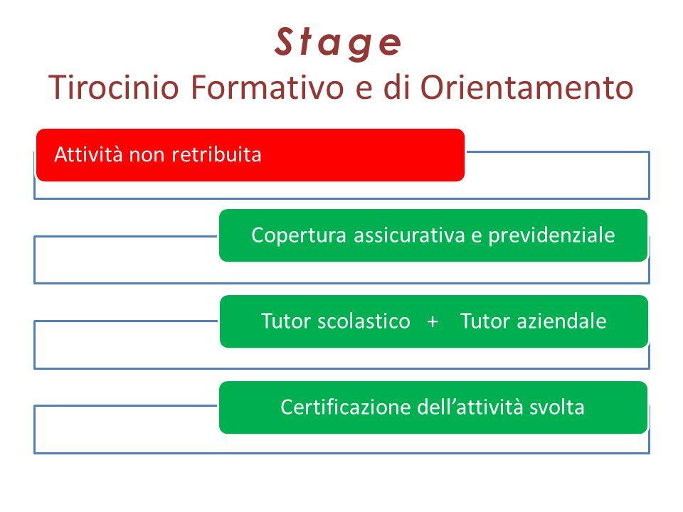 Stage Tirocinio Formativo e di Orientamento