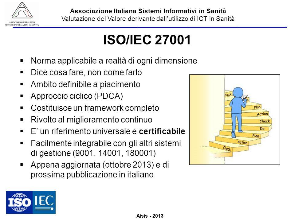 ISO/IEC 27001 Norma applicabile a realtà di ogni dimensione