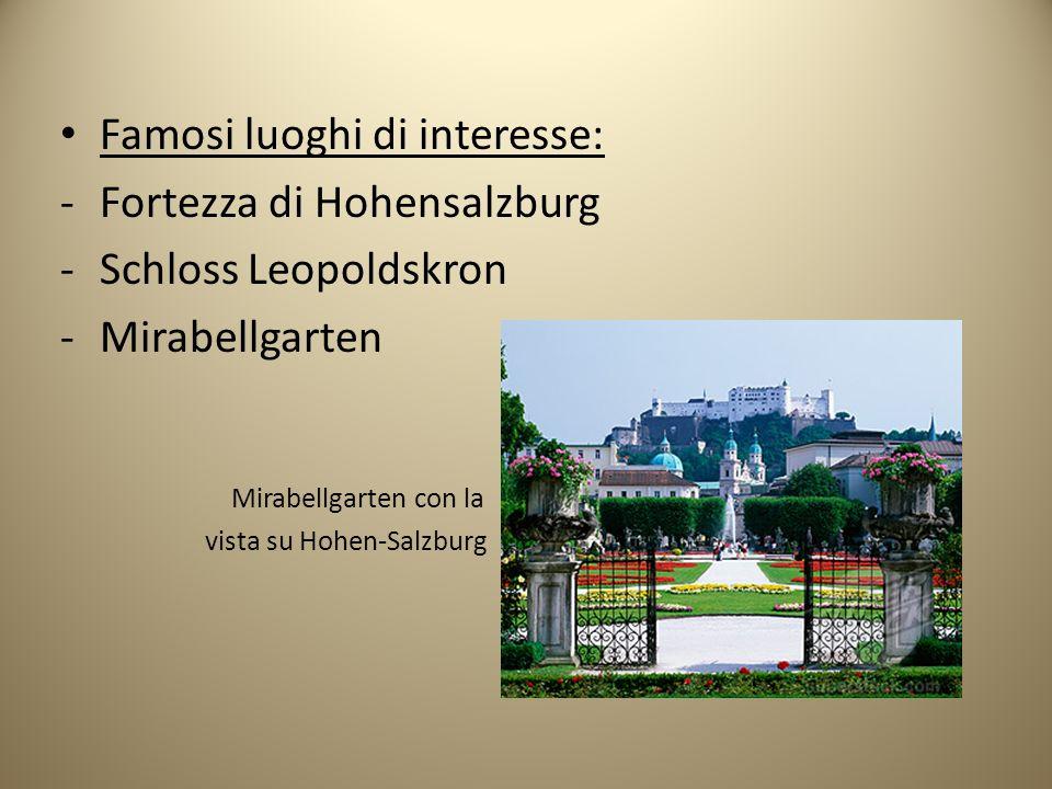 Famosi luoghi di interesse: Fortezza di Hohensalzburg