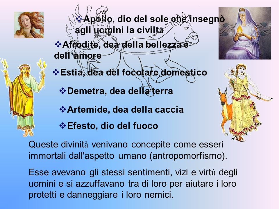Apollo, dio del sole che insegnò agli uomini la civiltà