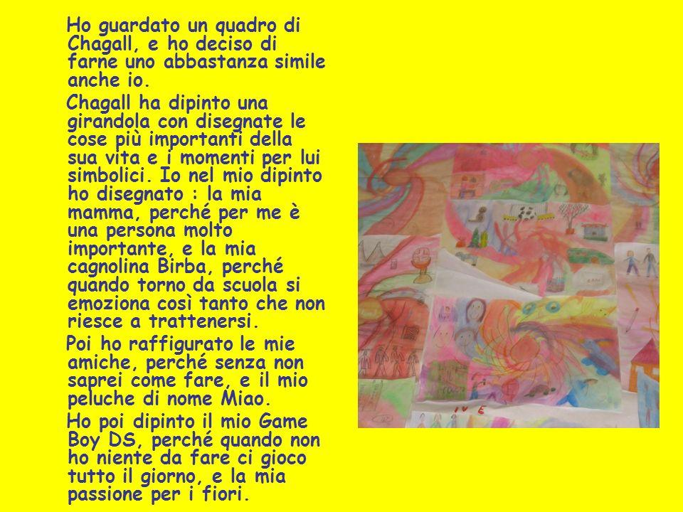 Ho guardato un quadro di Chagall, e ho deciso di farne uno abbastanza simile anche io.