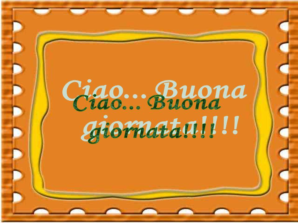 Ciao... Buona giornata!!!!