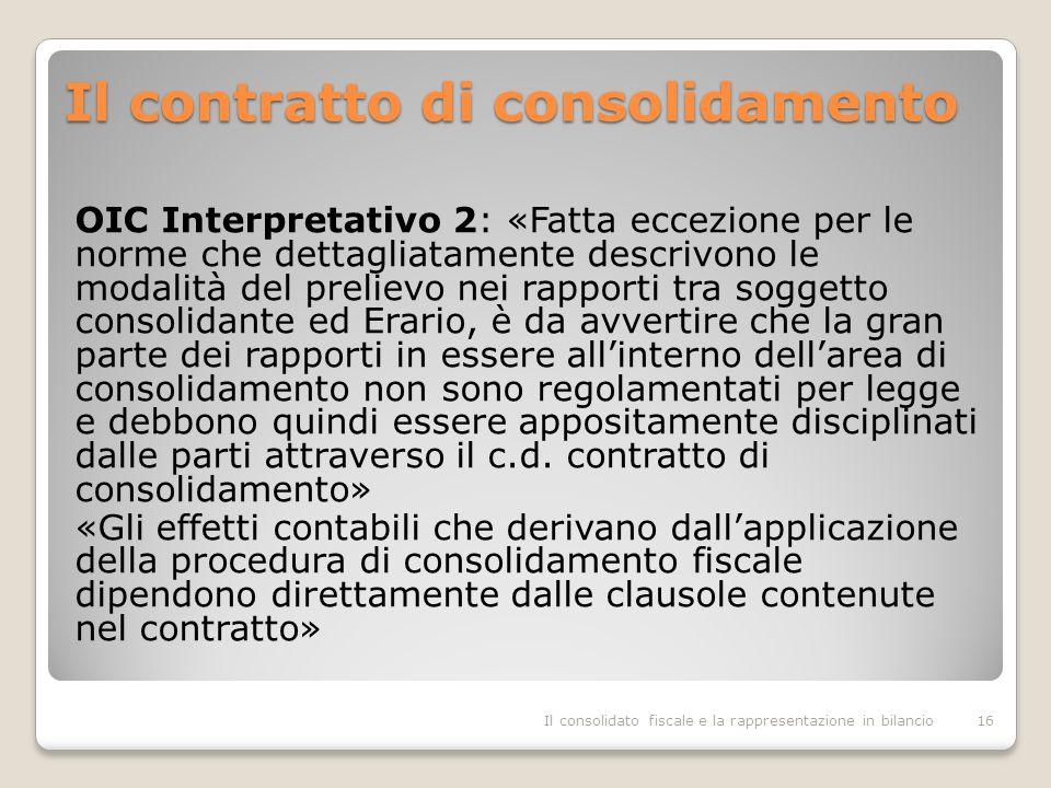 Il contratto di consolidamento