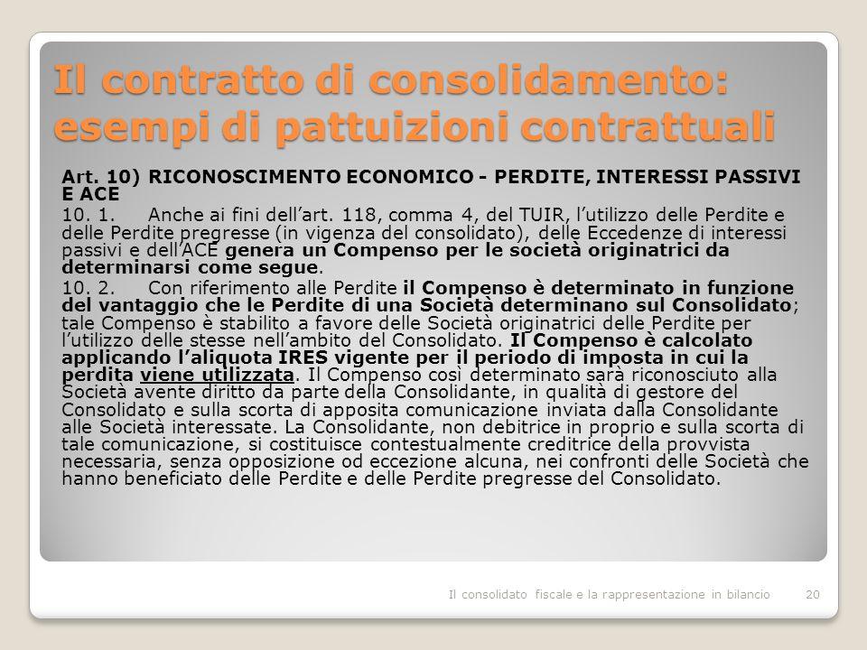 Il contratto di consolidamento: esempi di pattuizioni contrattuali