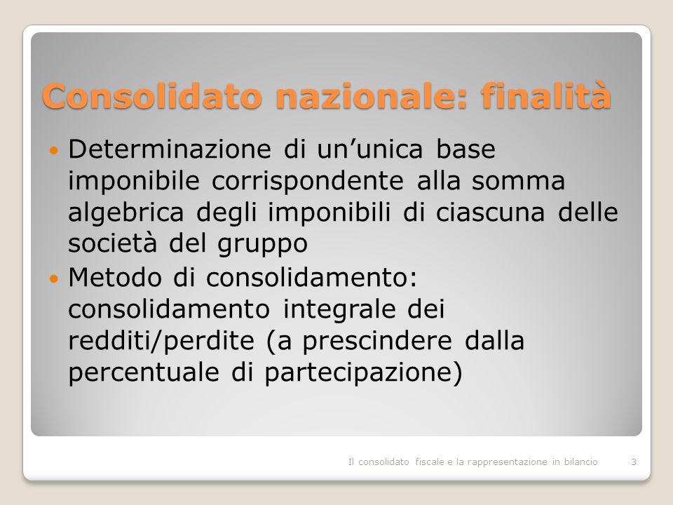 Consolidato nazionale: finalità