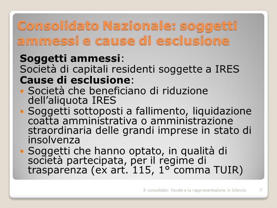 Consolidato Nazionale: soggetti ammessi e cause di esclusione