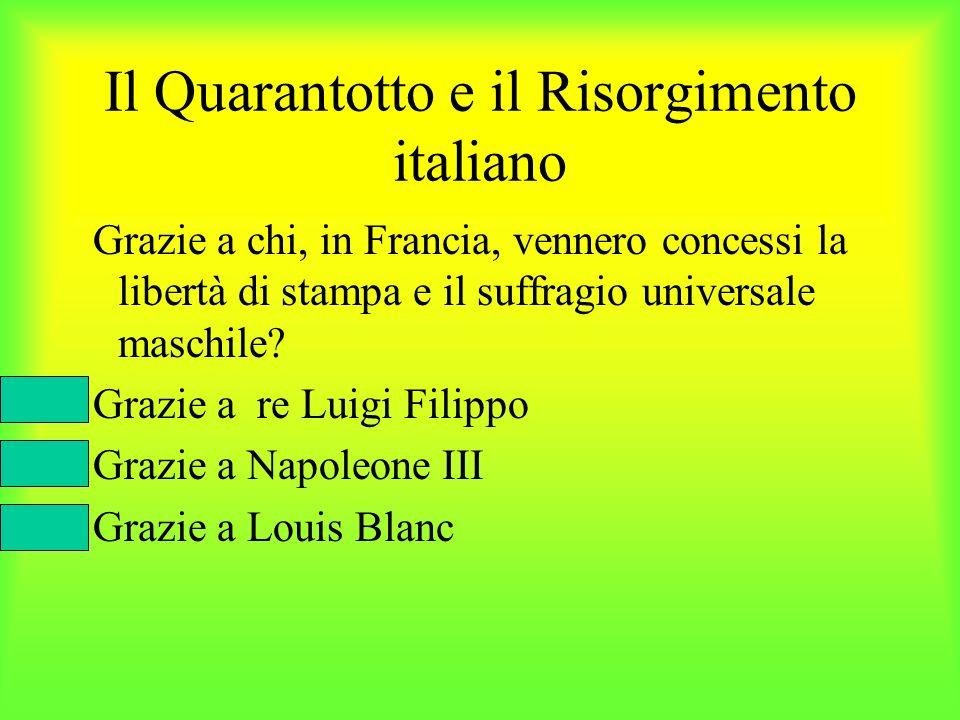 Il Quarantotto e il Risorgimento italiano
