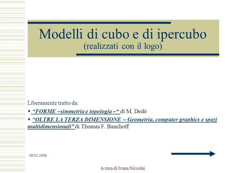 Modelli di cubo e di ipercubo (realizzati con il logo)
