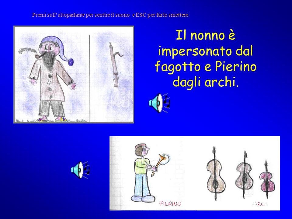 Il nonno è impersonato dal fagotto e Pierino dagli archi.