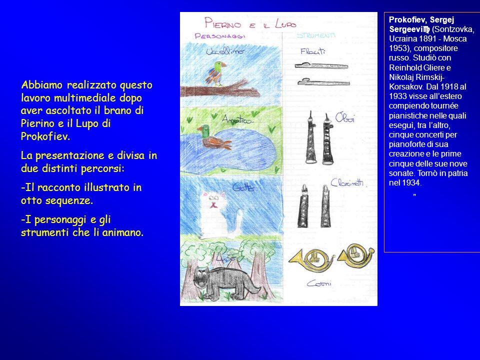 La presentazione e divisa in due distinti percorsi: