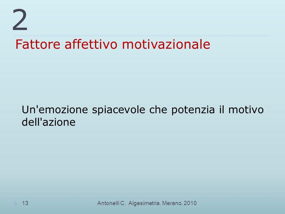 2 Fattore affettivo motivazionale