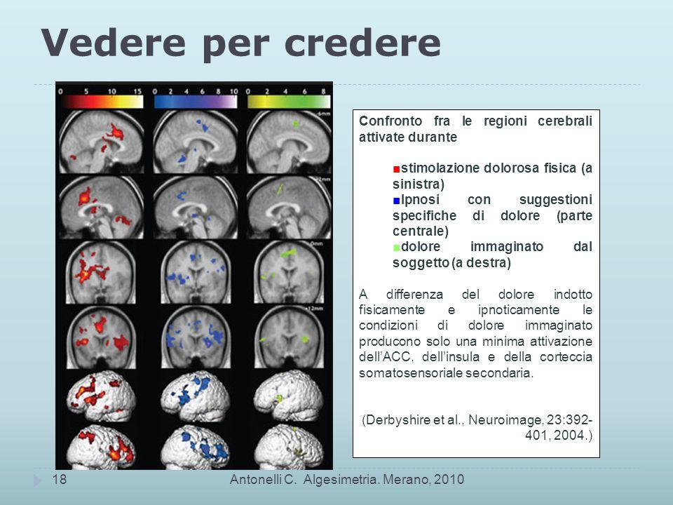 Vedere per credere Confronto fra le regioni cerebrali attivate durante
