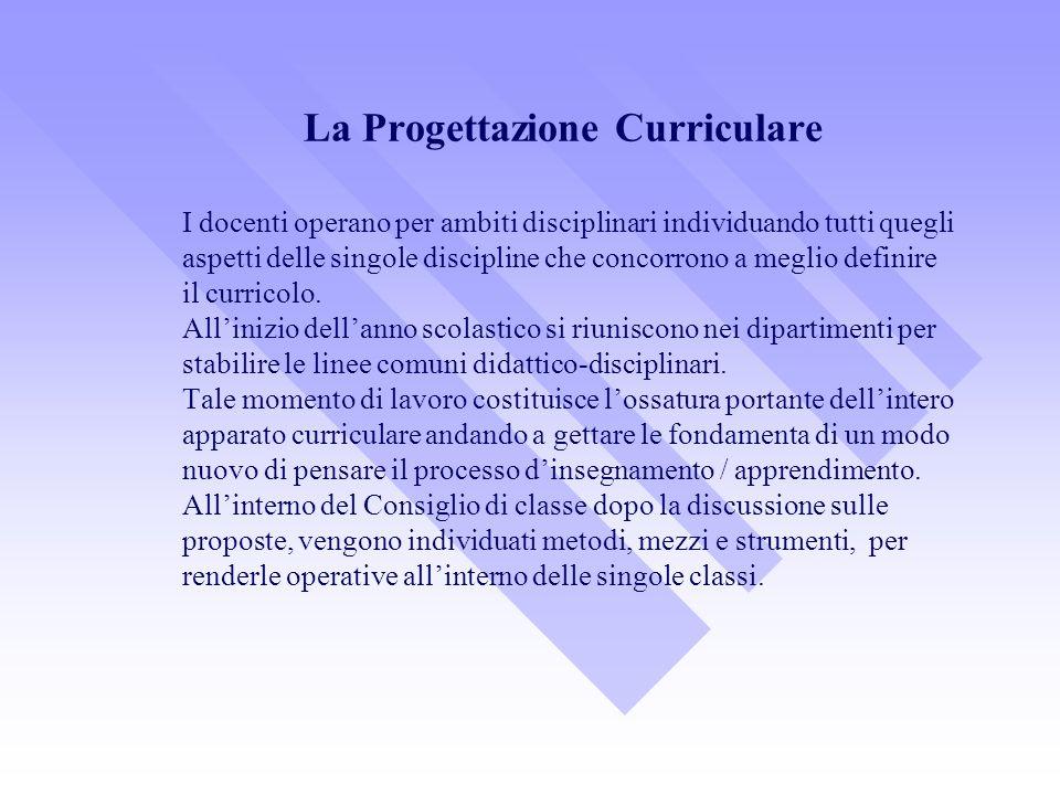 La Progettazione Curriculare