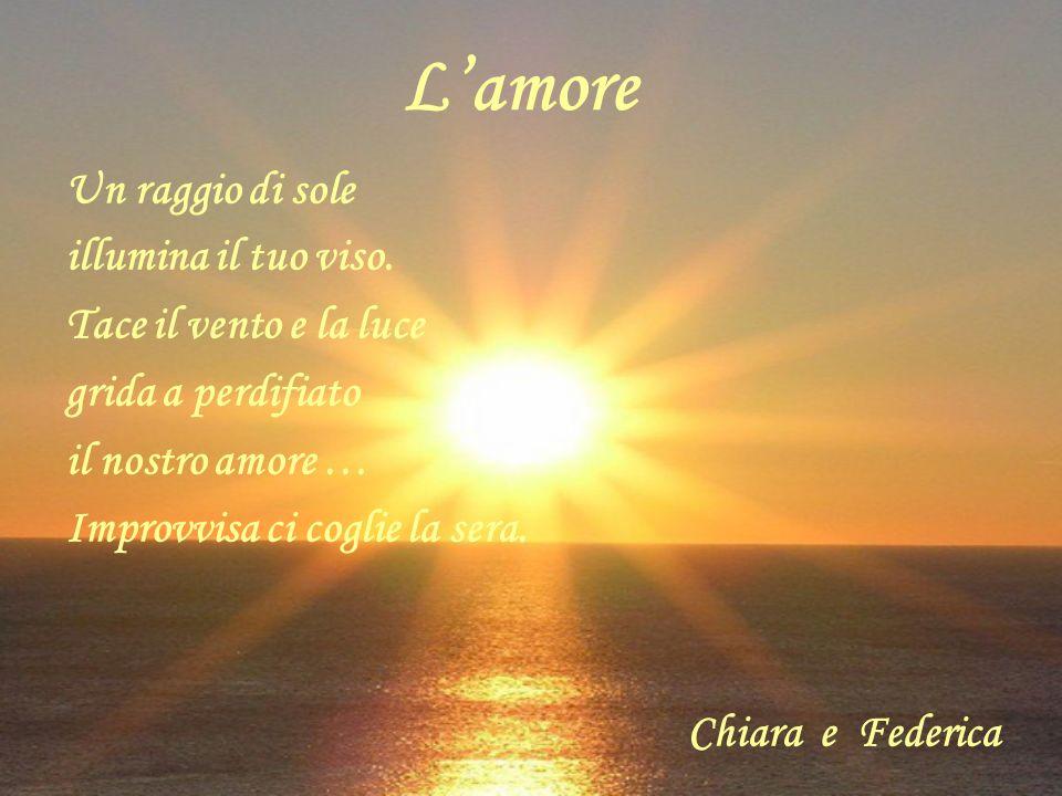 L'amore Un raggio di sole illumina il tuo viso.