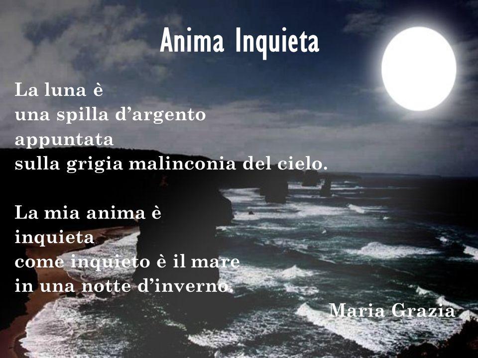 Anima Inquieta La luna è una spilla d'argento appuntata