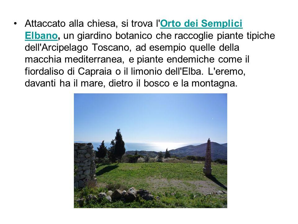 Attaccato alla chiesa, si trova l Orto dei Semplici Elbano, un giardino botanico che raccoglie piante tipiche dell Arcipelago Toscano, ad esempio quelle della macchia mediterranea, e piante endemiche come il fiordaliso di Capraia o il limonio dell Elba.