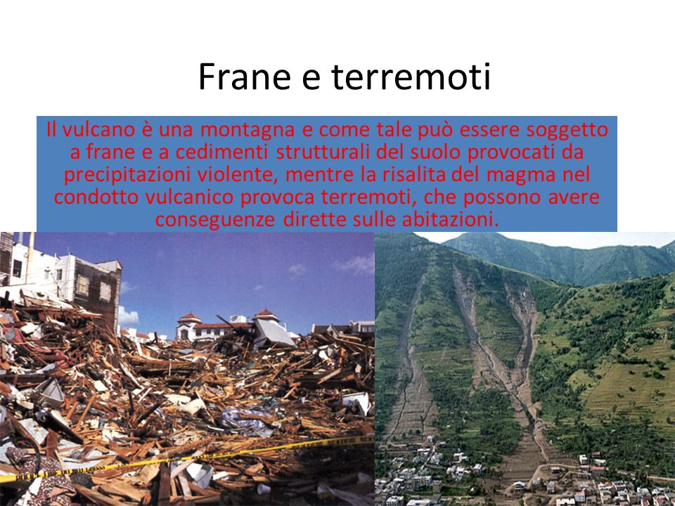 Frane e terremoti
