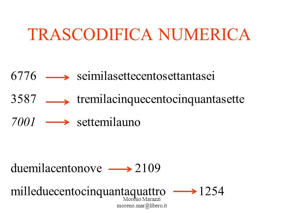 TRASCODIFICA NUMERICA