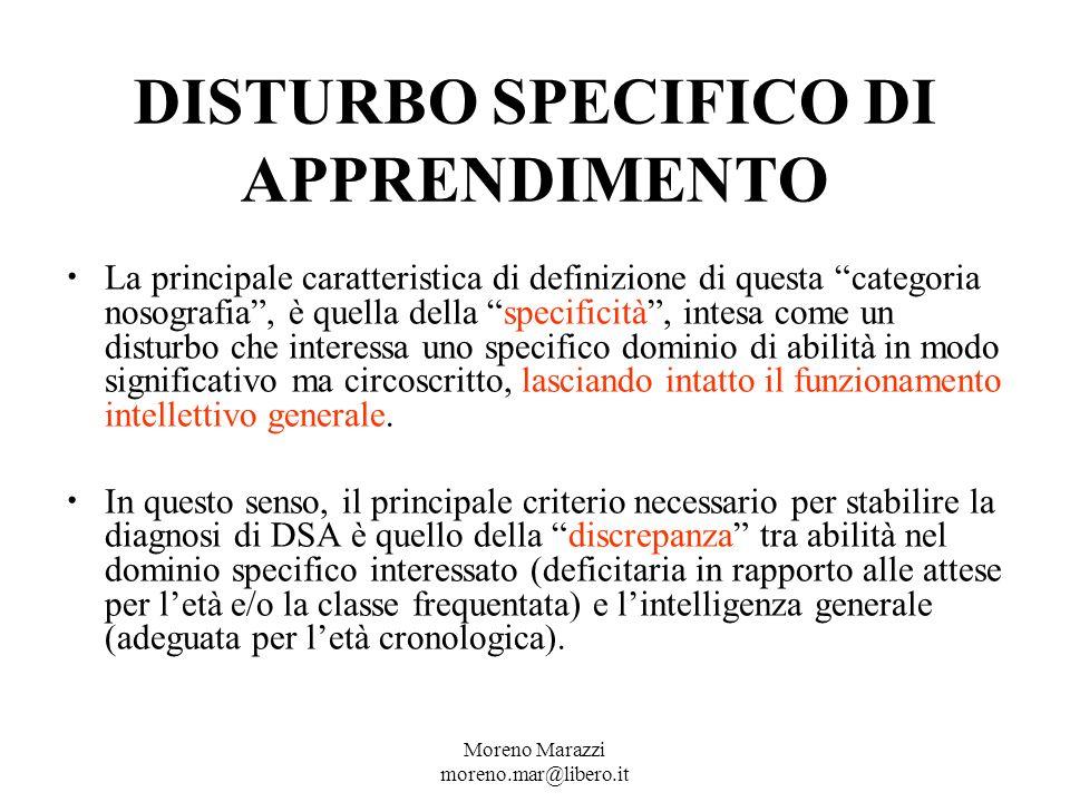 DISTURBO SPECIFICO DI APPRENDIMENTO