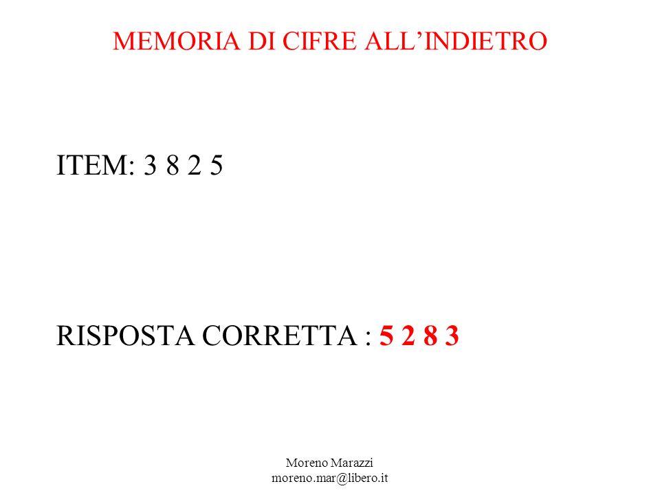 MEMORIA DI CIFRE ALL'INDIETRO