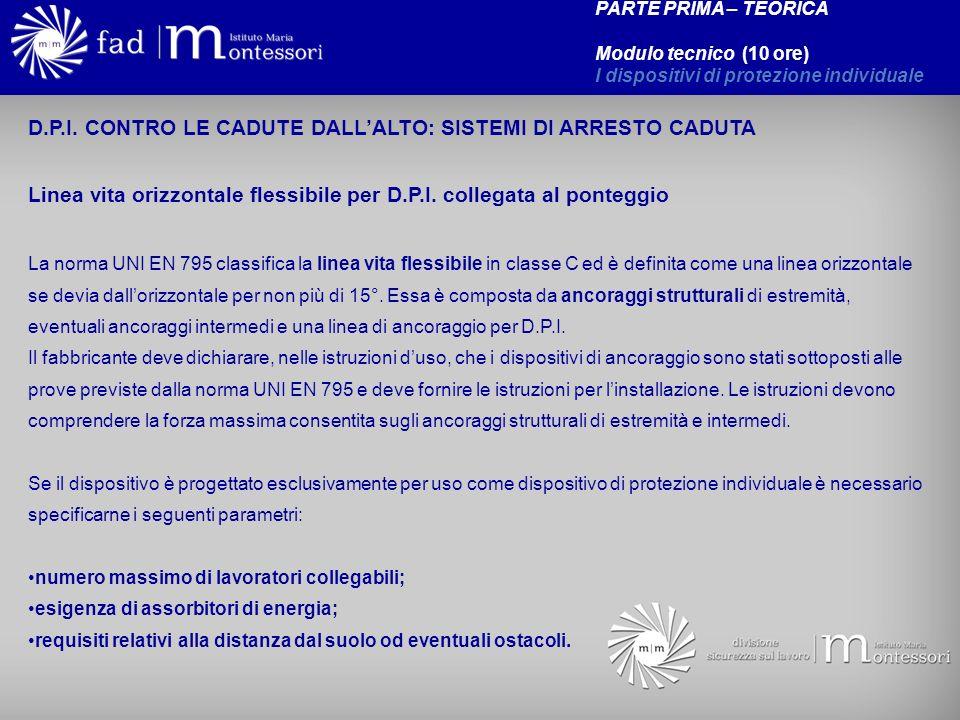 D.P.I. CONTRO LE CADUTE DALL'ALTO: SISTEMI DI ARRESTO CADUTA