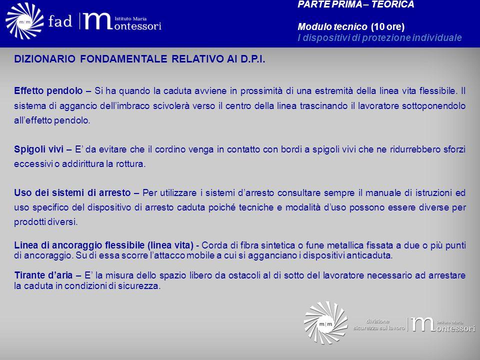 DIZIONARIO FONDAMENTALE RELATIVO AI D.P.I.