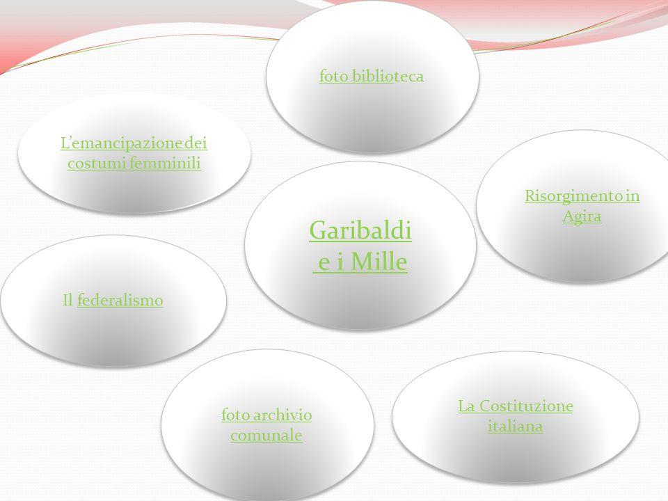 Garibaldi e i Mille foto biblioteca