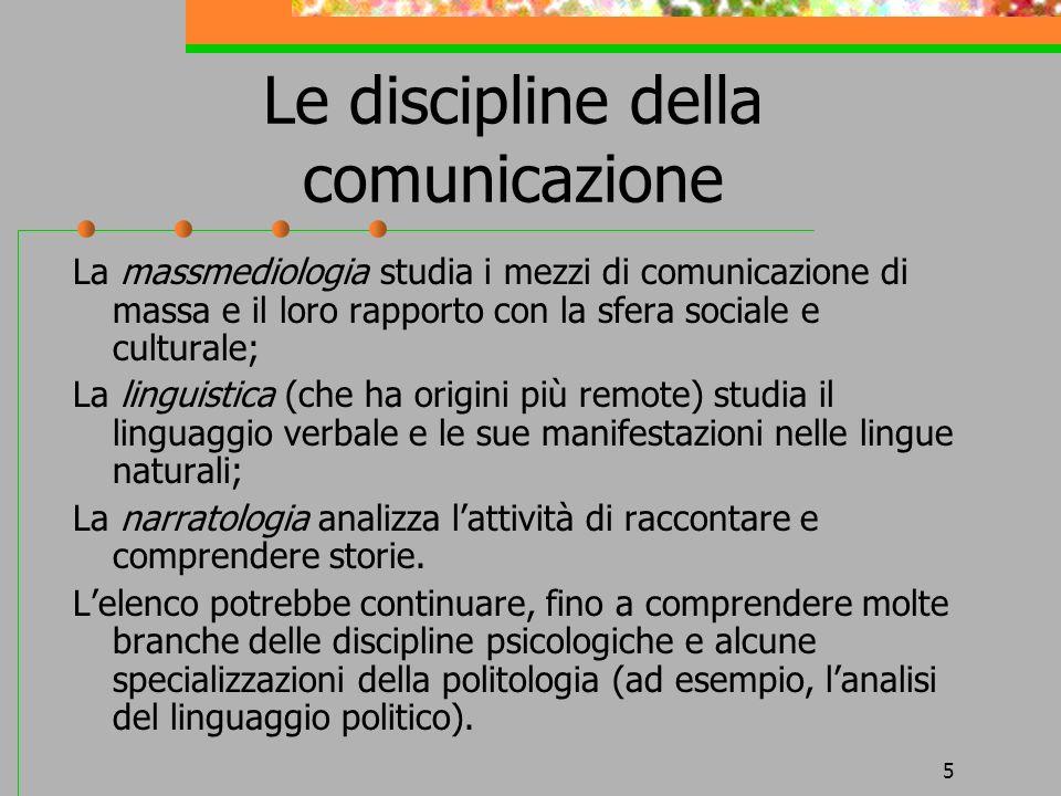 Le discipline della comunicazione