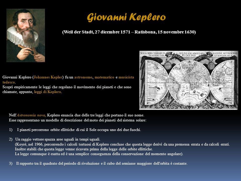 Giovanni Keplero (Weil der Stadt, 27 dicembre 1571 – Ratisbona, 15 novembre 1630)