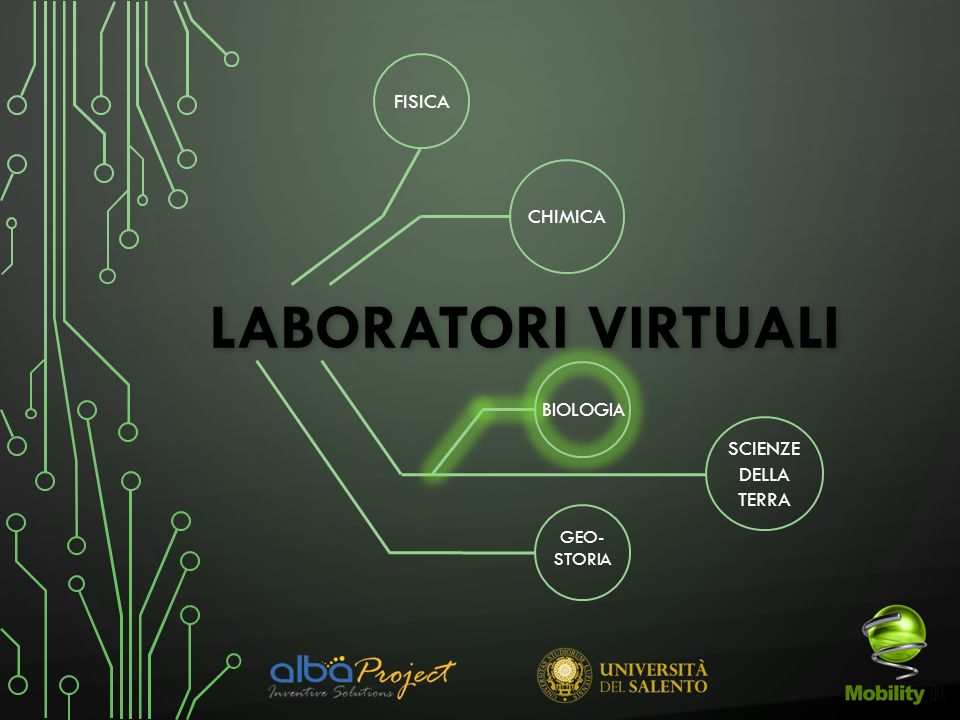 Laboratori Virtuali FISICA CHIMICA SCIENZE DELLA TERRA BIOLOGIA GEO-