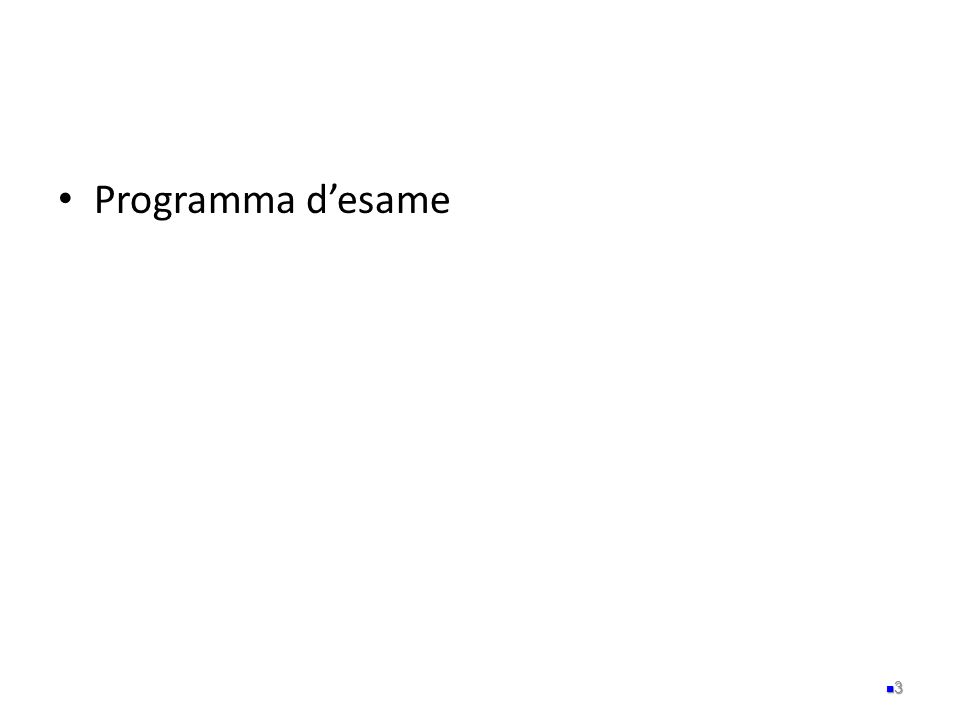 Programma d'esame