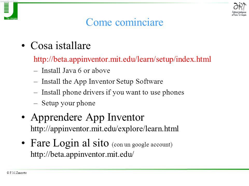 Apprendere App Inventor http://appinventor.mit.edu/explore/learn.html