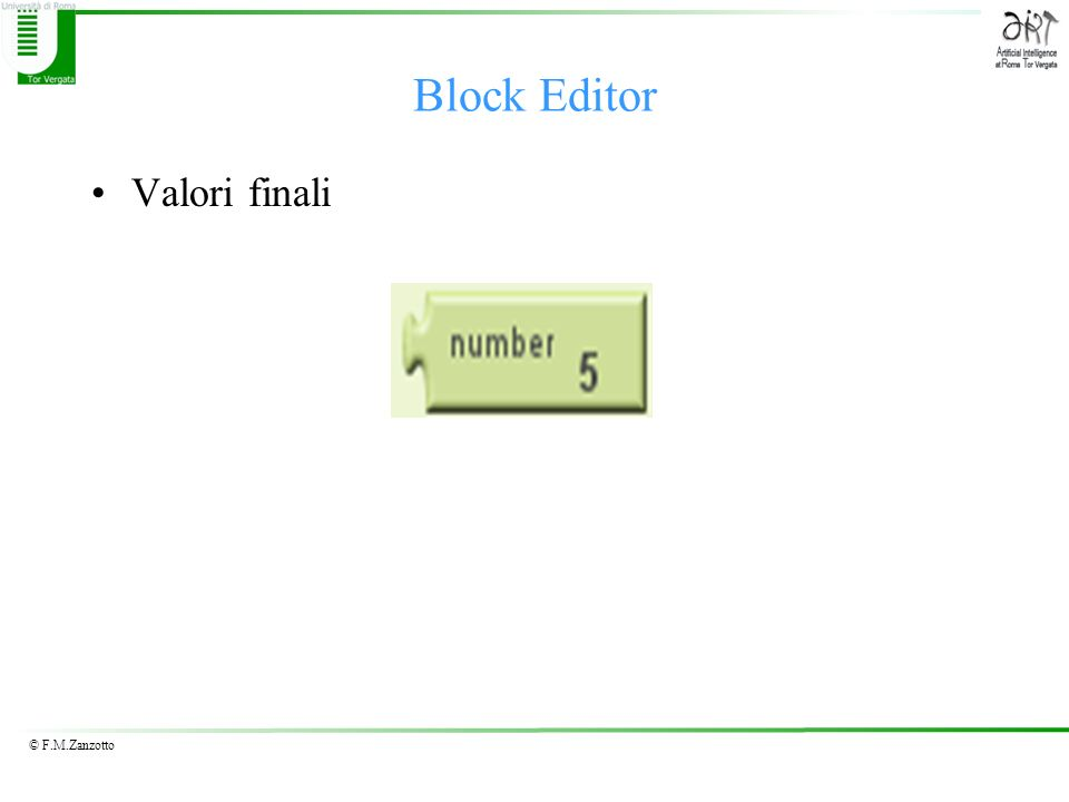 Block Editor Valori finali