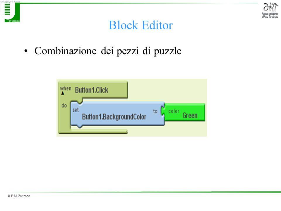 Block Editor Combinazione dei pezzi di puzzle
