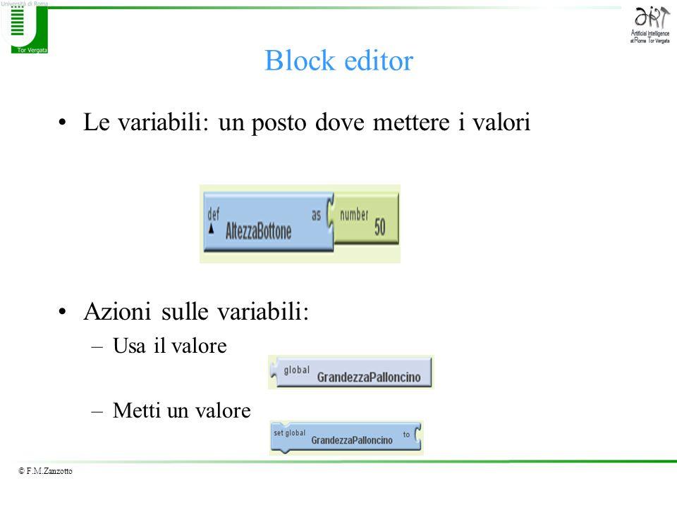 Block editor Le variabili: un posto dove mettere i valori