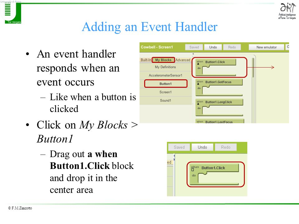 Adding an Event Handler