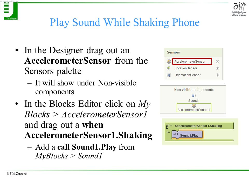 Play Sound While Shaking Phone