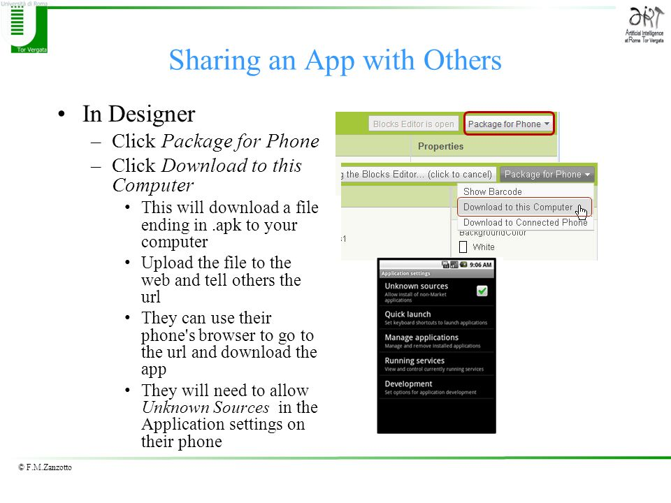 Sharing an App with Others