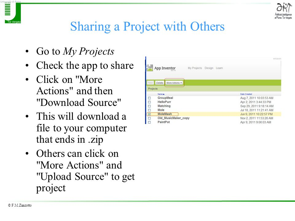 Sharing a Project with Others