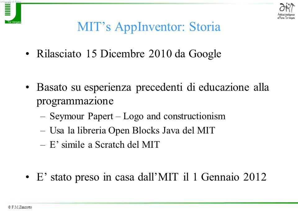 MIT's AppInventor: Storia