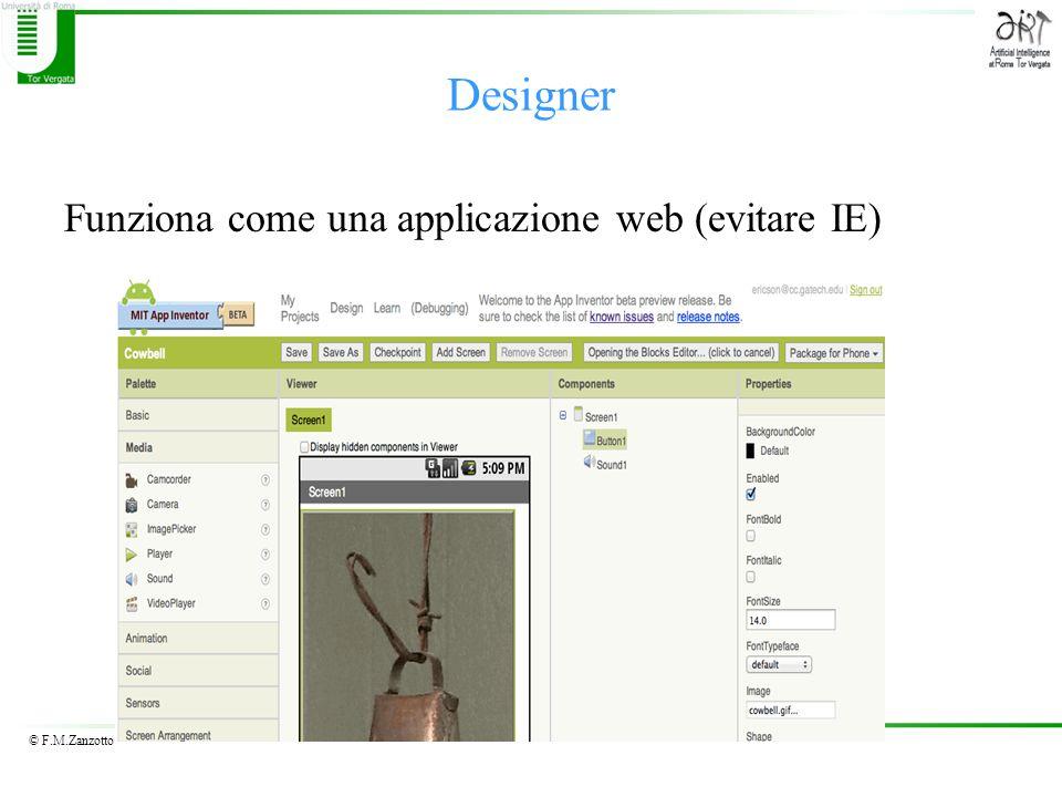 Designer Funziona come una applicazione web (evitare IE)