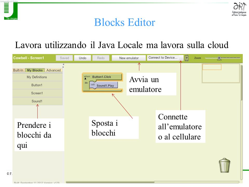 Blocks Editor Lavora utilizzando il Java Locale ma lavora sulla cloud