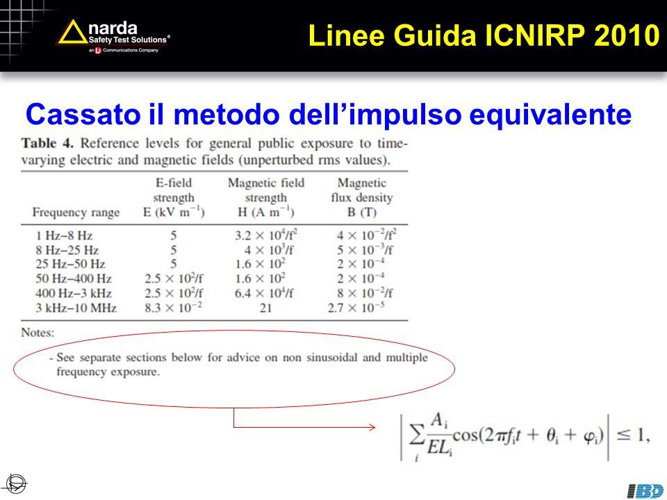 Linee Guida ICNIRP 2010 Cassato il metodo dell'impulso equivalente