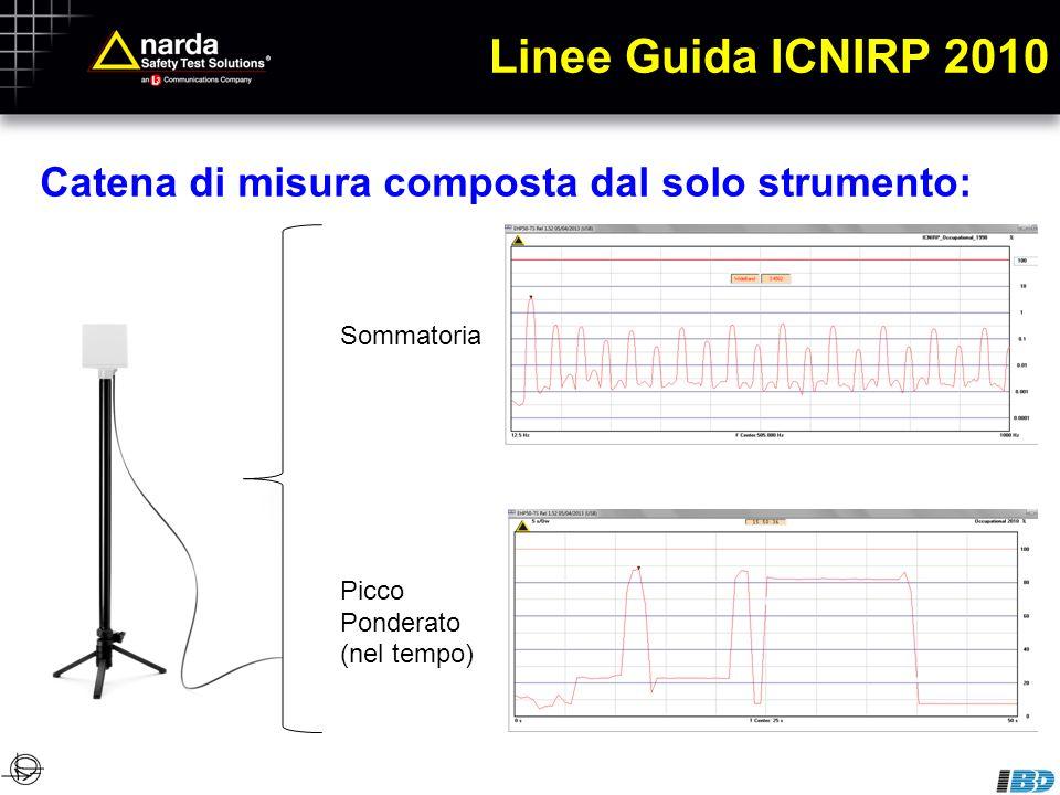 Linee Guida ICNIRP 2010 Catena di misura composta dal solo strumento: