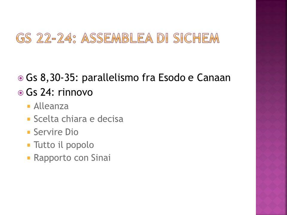 Gs 22-24: assemblea di Sichem